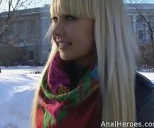 A cute Russian babe seduced,..