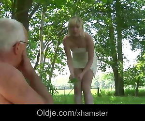 Pervert oldman bangs shy horny..