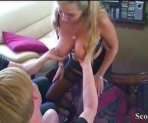 German Mother Fucks Step-Son and..