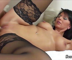 German MILF in Stockings Fuck..