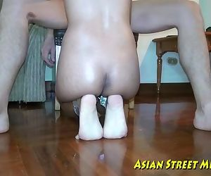 Asian Woman Dribbles Semen After..