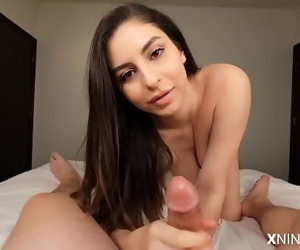 Young Latina Slut uses Feet and..
