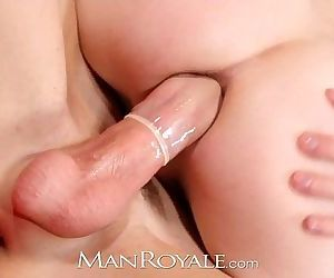 ManRoyale Boyfriends have hot sex by fireplaceHD