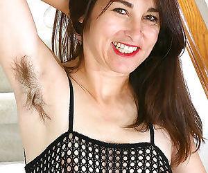 Hairy armpits and hairy pussy..