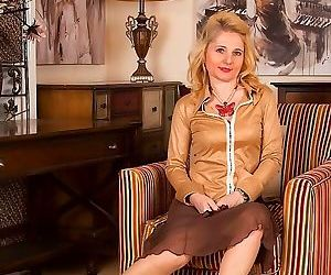 Lily roma mature blonde in tan..