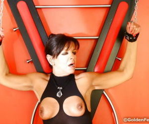 Bound UK sex slave Lady Sarah..