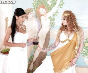 Busty cosplay lesbian Harmony..