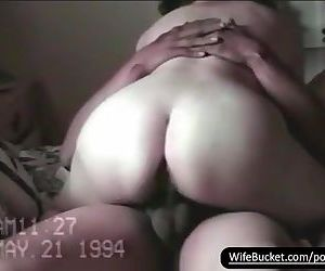 Vintage sextape of chubby wife..