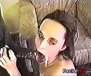 Classic Interracial Facial With A..