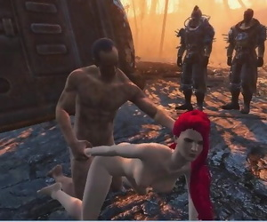 Four Bandits took Turns Fucking a Chick - Fallout Porno, 3D