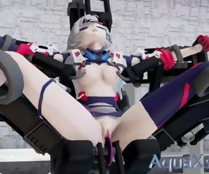 【MMD 3D】Honkai Impact 3 Kallen Kaslana Torture Machine..