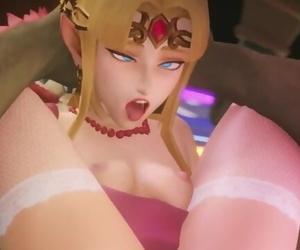 Zelda Gets her Ass Porked in Super Plow Bros by Fugtrup