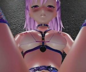 MMD R18 4k UHD Restrain bondage Bikini Misaka Rose -..