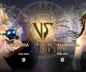 Naked Calibur 6: Sophitia vs Xianghua