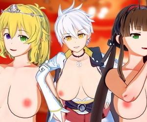Senran Kagura - Futa Ryobi and Ryona take Turns Fucking..