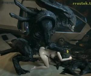 3D Hardcore Animation Aliens Pounding Samus Aran Deep and..
