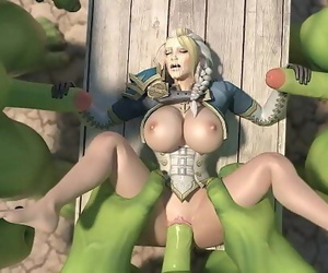 Jaina proudmore fucked by thick orc cocks 16 min