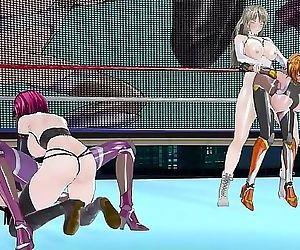 Taimanin Asagi and Sakura pounded brutally 9 min 720p