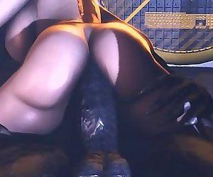 Samus aran smallish thick shaft monster 6 min HD