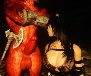 My Skyrim Satan kajiit and woman - part 2