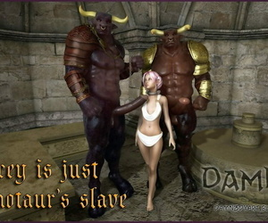 Damn3d Lacey is just a Minotaurs Victim