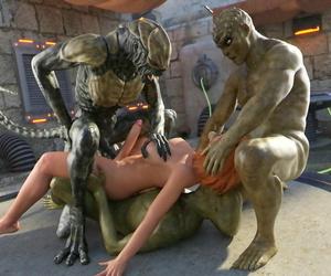Goldenmaster Very first Contact - 11 alien gangbang - part 4