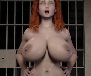 Crimson Haired wifey rides a prison inmates Big shaft 10..
