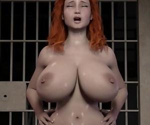 Crimson Haired wifey rides a prison inmates Big shaft 10..