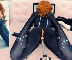 Black Widow Loves Your Cock in her PussyBig Toy on a..