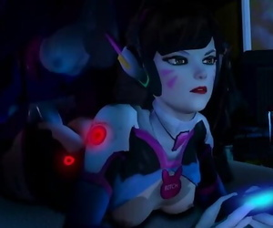 Widowmaker x D.Va - Anal when trying to Play a Game