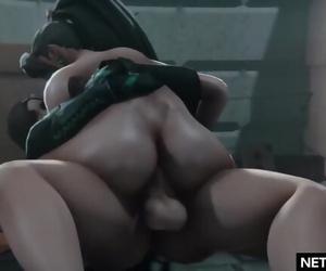Valorant Porn: Viper Fucks Sage Animation