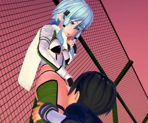 Sword Art Online Kirito x Sinon Hentai