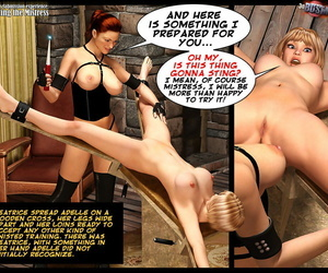 3D BDSM Dungeon Adelles Subordination experience: Meeting..