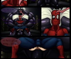 Venom x Spider-Man On The Roof