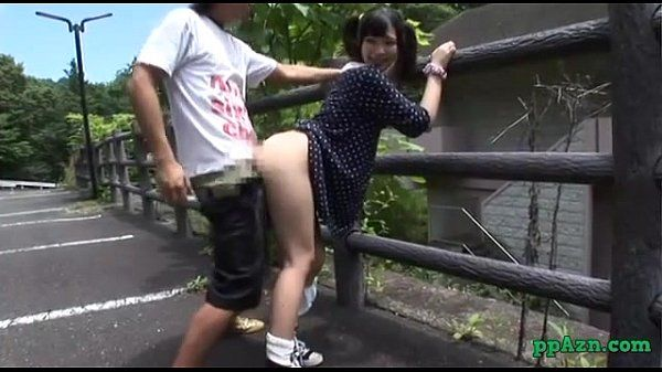 Asian Lady Fucked While Bending To The Fence Outdoor