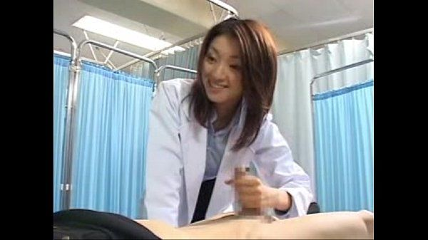 Japanese doll doctor makes her patient cum