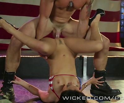 Wicked - Asa Akira and friends get ass fucked by Strippers