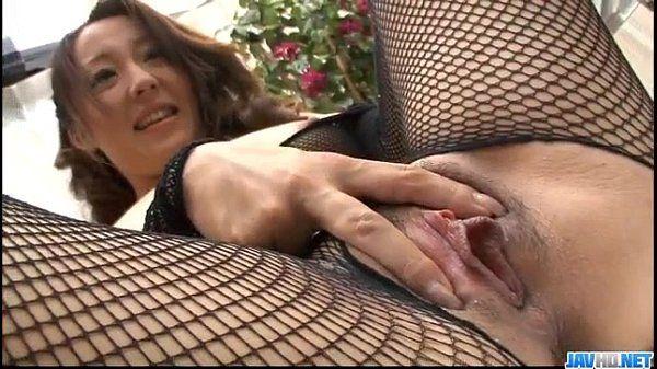 Ruhime Maiori fishnet porn showcase in hardcore