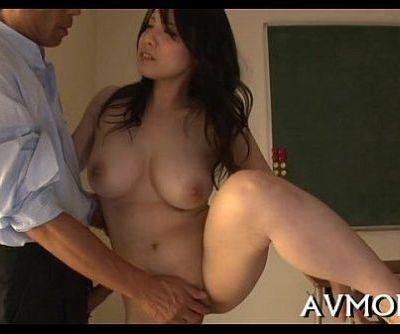 Floozy milf oriental deep-throats on hard cock - 5 min