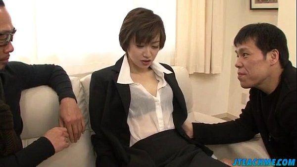 Great office xxx play for obscene Akina Hara