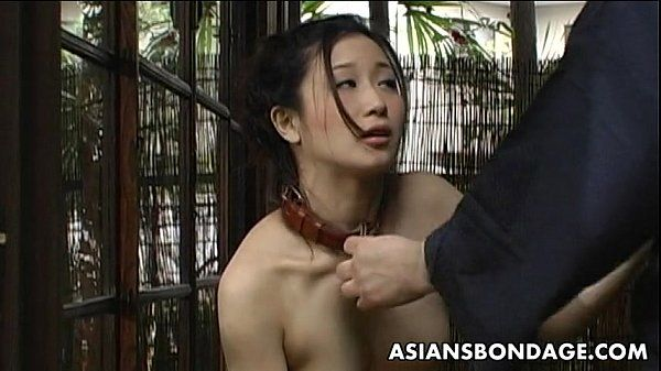 Asian slut enjoys to be handled like a bitch