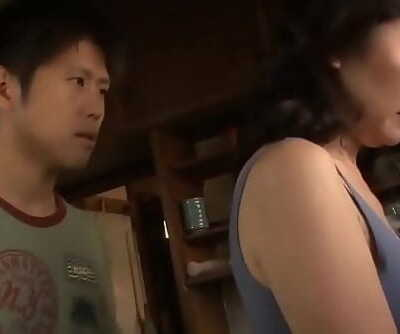 Asian Mummy Cant Stand against Her Stepson 10 min 720p