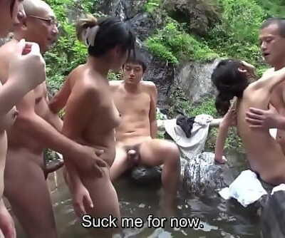 Uncensored JAV cheating wives humid sex orgy outdoor onsen 5 min 720p
