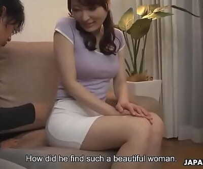Japanese housewife, Noeru Mitsushima was being a real slut, uncensored 66 sec
