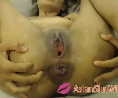 Asian Teenager Blasting With Anal Dildo And Anal Gape
