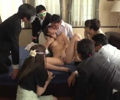 JAV Miki Sunohara suck off and rimjob while audience watches