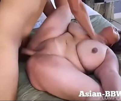 BBW Asian with Hefty Tits Fucked by Photographermore at BBW-Asian.com 5 min