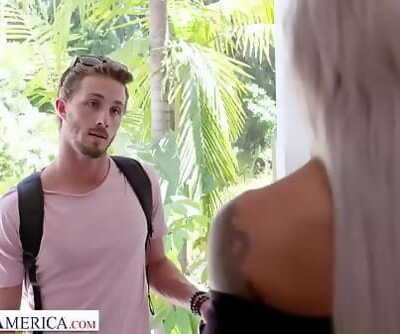 Naughty America Nicole McKenna (Nina Elle) screws her sons huge cocked friend 14 min 720p