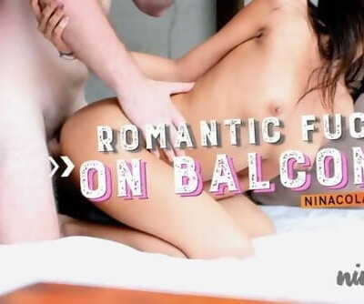 ROMANTIC FUCK ON BALCONY ! PART 2 - Ft Ninacola