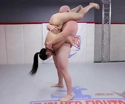 Bare Wrestling struggle Song Lee vs Thor for oral pleasure 15 min 1080p
